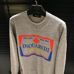 DSQUARED2 Grey Sweater Crewneck